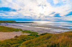 Kustlinje av Opal Coast (skjuld'Opale) i Pas de Calais, Frankrike Arkivfoton