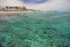 Kustlinje av Protaras, Cypern Royaltyfria Foton
