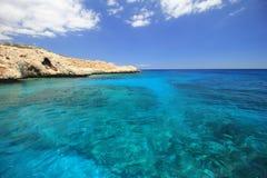 Kustlinje av Protaras, Cypern Arkivbilder