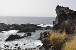 Kustlinje av Tenerife i Los Gigantes Fotografering för Bildbyråer