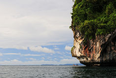 Kustlinje av Thailand Arkivbild
