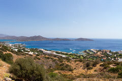 kustlinje crete greece Arkivbild