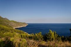 kustlinje croatia royaltyfri foto