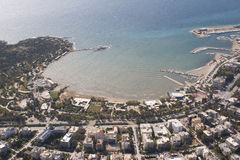 kustlinje för 01 athens arkivbild