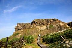 Kustlinje grön ö, Taiwan Arkivfoto