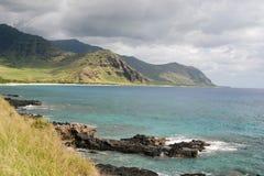kustlinje hawaii Arkivbilder