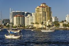 Kustlinje i Fort Lauderdale, Florida Arkivfoton