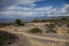 Kustlinje i Sardinia Italien Arkivbilder