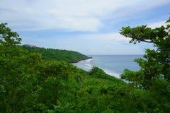 Kustlinje i Xiao Liuqiu Island - Taiwan royaltyfri foto