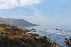Kustlinje nära Monterey Kalifornien, USA fotografering för bildbyråer