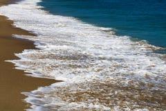 Kustlinje och vågor av stranden Los Angeles USA royaltyfri bild