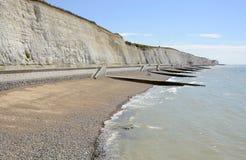 Kustlinje på Brighton sussex england Arkivfoton