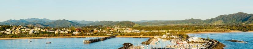 Kustlinje på Coffs Harbour Australien Royaltyfri Bild