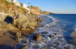 Kustlinje på Cress Street Laguna Beach, Kalifornien Arkivfoto