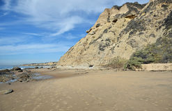 Kustlinje på Crystal Cove State Park, sydliga Kalifornien arkivfoton