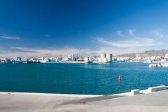 Kustlinje på Malaga Royaltyfri Bild