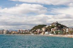 Kustlinje på Malaga Arkivfoton