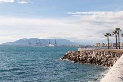 Kustlinje på Malaga Royaltyfria Bilder
