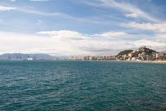 Kustlinje på Malaga Arkivfoto