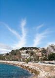 Kustlinje på Malaga Royaltyfri Fotografi