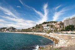 Kustlinje på Malaga Fotografering för Bildbyråer