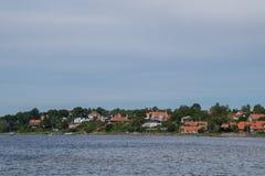 Kustlinje, Roskilde, Danmark Arkivbild