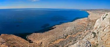 kustlinje södra cyprus Arkivbild