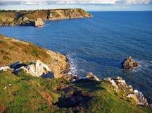 kustlinje södra wales Royaltyfri Bild