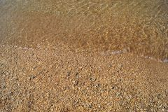Kustlinje sandig strand, strand Royaltyfri Foto