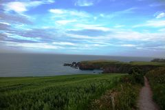 Kustlinje Stonehaven, Skottland Royaltyfri Bild