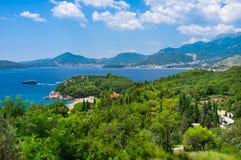 Kustlinjen av Montenegro Royaltyfri Fotografi