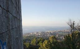 Kustlinjen från mausoleet av Ciano Royaltyfria Foton