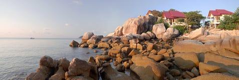 kustsolnedgångtid Fotografering för Bildbyråer