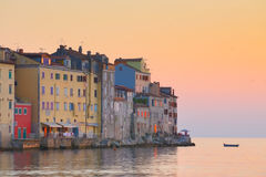 Kuststad av Rovinj, Istria, Kroatien. arkivfoton