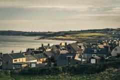 Kuststad Burghead i skotsk Skotska högländerna arkivbild