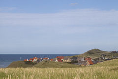 Kuststad i Danmark Arkivfoto