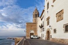 Kuststad van Sitges in Spanje Royalty-vrije Stock Afbeeldingen