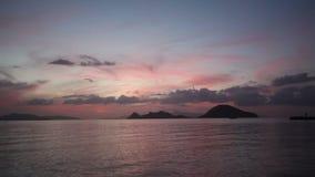 Kuststad van Turgutreis en spectaculaire sunsets stock video