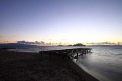 Kuststad van Turgutreis en spectaculaire sunsets Royalty-vrije Stock Afbeeldingen
