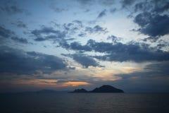 Kuststad van Turgutreis en spectaculaire sunsets Royalty-vrije Stock Foto