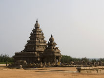 Kusttempel av Mahabalipuram, Indien Fotografering för Bildbyråer