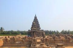 Kusttempel i Mahabalipuram, Indien Fotografering för Bildbyråer