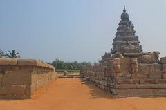 Kusttempel i Mahabalipuram, Indien Royaltyfri Bild
