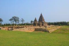 Kusttempel i Mahabalipuram, Indien Royaltyfria Foton