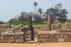 Kusttempel i Mahabalipuram, Indien Royaltyfri Fotografi