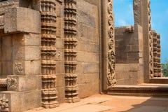 Kusttempel. Mahabalipuram Indien, en UNESCOvärldsarv Royaltyfria Foton