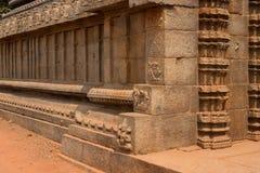 KustTemple. Tamil Nadu, Indien, en plats för UNESCO-världsarv Royaltyfri Foto