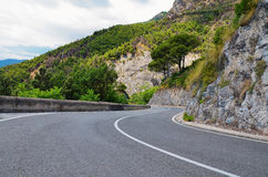 Kustväg, Amalfi kust Royaltyfri Foto