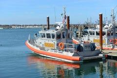 Kustwacht Boat, Narragansett, RI royalty-vrije stock foto