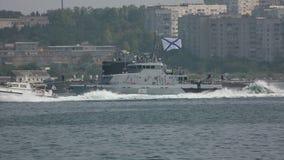 Kustwachtschepen Rusland stock footage
